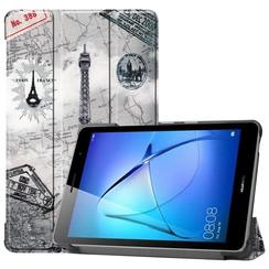 Huawei MatePad T8 hoes - Tri-Fold Book Case - Eiffeltoren