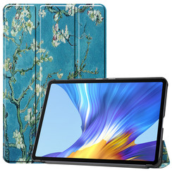 Huawei MatePad 10.4 hoes - Tri-Fold Book Case - Witte Bloesem