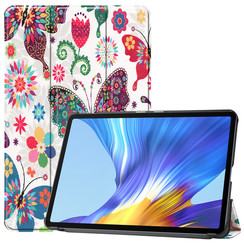 Huawei MatePad 10.4 hoes - Tri-Fold Book Case - Vlinders