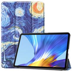 Huawei MatePad 10.4 hoes - Tri-Fold Book Case - Sterrenhemel