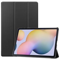 Samsung Galaxy Tab S7 Plus (2020) hoes - Tri-Fold Book Case - Zwart