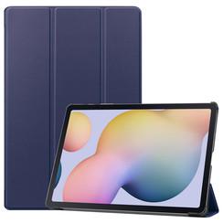 Samsung Galaxy Tab S7 Plus (2020) hoes - Tri-Fold Book Case - Donker Blauw