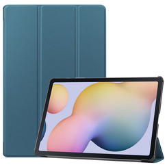 Samsung Galaxy Tab S7 Plus (2020) hoes - Tri-Fold Book Case - Marine Blauw