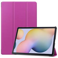 Samsung Galaxy Tab S7 Plus (2020) hoes - Tri-Fold Book Case - Paars