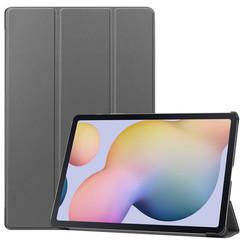 Samsung Galaxy Tab S7 Plus (2020) hoes - Tri-Fold Book Case - Grijs