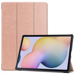 Samsung Galaxy Tab S7 Plus (2020) hoes - Tri-Fold Book Case - Rosé Goud