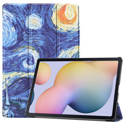Samsung Galaxy Tab S7 Plus (2020) hoes - Tri-Fold Book Case - Sterrenhemel
