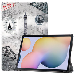 Samsung Galaxy Tab S7 Plus (2020) hoes - Tri-Fold Book Case - Eiffeltoren