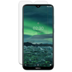 Nokia 2.3 Screenprotector - Tempered Glass Screenprotector - Case-Friendly