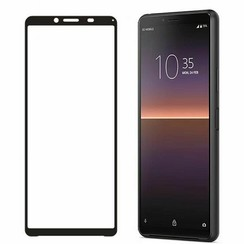 Sony Xperia 10 II Screenprotector - Full Cover Screenprotector - Case-Friendly - Zwart