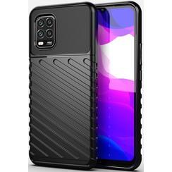 Xiaomi Mi 10 Lite hoesje - Schokbestendige TPU back cover - Zwart