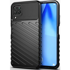 Huawei P40 Lite case - Shockproof Armor TPU Back Cover - Black