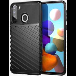 Samsung Galaxy A21s hoesje - Schokbestendige TPU back cover - Zwart