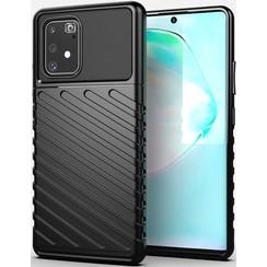 Samsung Galaxy S10 Lite case - Shockproof Armor TPU Back Cover - Black