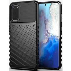 Samsung Galaxy S20 hoesje - Schokbestendige TPU back cover - Zwart