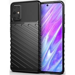 Samsung Galaxy S20 Plus case - Shockproof Armor TPU Back Cover - Black