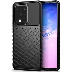 Samsung Galaxy S20 Ultra case - Shockproof Armor TPU Back Cover - Black