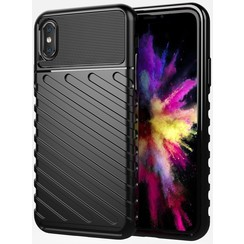 iPhone X/XS case - Shockproof Armor TPU Back Cover - Black