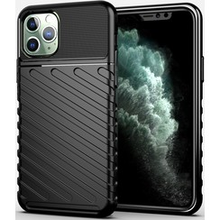 iPhone 11 Pro case - Shockproof Armor TPU Back Cover - Black