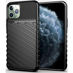 iPhone 11 Pro Max hoesje - Schokbestendige TPU back cover - Zwart