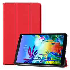 Case2go - Case for LG G Pad 5 10.1 - Slim Tri-Fold Book Case - Lightweight Smart Cover - Red