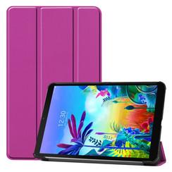 Case2go - Case for LG G Pad 5 10.1 - Slim Tri-Fold Book Case - Lightweight Smart Cover - Purple