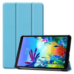 LG G Pad 5 10.1 hoes - Tri-Fold Book Case - Licht Blauw