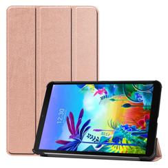 Case2go - Case for LG G Pad 5 10.1 - Slim Tri-Fold Book Case - Lightweight Smart Cover - Rosé-Gold