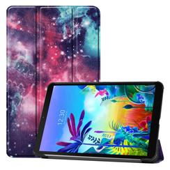 Case2go - Case for LG G Pad 5 10.1 - Slim Tri-Fold Book Case - Lightweight Smart Cover - Galaxy