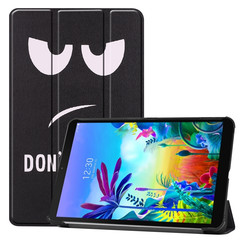 LG G Pad 5 10.1 hoes - Tri-Fold Book Case - Don't Touch Me