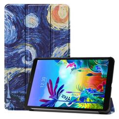 Case2go - Case for LG G Pad 5 10.1 - Slim Tri-Fold Book Case - Lightweight Smart Cover - Starry sky