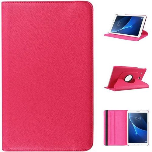 Cover2day Case for Samsung Galaxy Tab A 10.1 (2016-2018) - 360 Degree Rotation Stand Cover - Magenta