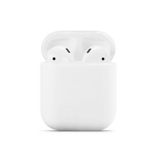 Case2go Apple Airpods Case - silicone ProtectCase with overprint - 3.0 mm - White