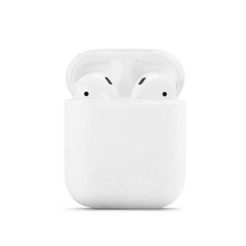 Case2go Apple Airpods hoesje - Siliconen beschermhoes met opdruk - 3.0 mm - Wit