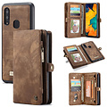 CaseMe CaseMe - Samsung Galaxy A40 hoesje - 2 in 1 Wallet Book Case - Bruin