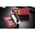 CaseMe CaseMe - Samsung Galaxy Note 10 hoesje - Wallet Book Case met Ritssluiting - Rood