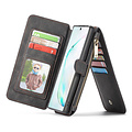 CaseMe CaseMe - Samsung Galaxy Note 10 Plus hoesje - Wallet Book Case met Ritssluiting - Zwart