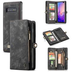 CaseMe - Samusng Galaxy S10 hoesje - 2 in 1 Wallet Book Case - Zwart
