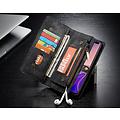 CaseMe CaseMe - Samusng Galaxy S10 hoesje - 2 in 1 Wallet Book Case - Zwart