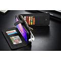 CaseMe CaseMe - Samsung Galaxy S10 hoesje - Wallet Book Case met Ritssluiting - Zwart