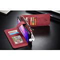 CaseMe CaseMe - Samsung Galaxy S10 hoesje - Wallet Book Case met Ritssluiting - Rood