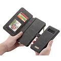 CaseMe CaseMe - Samsung Galaxy S10 Plus hoesje - Wallet Book Case met Ritssluiting - Zwart