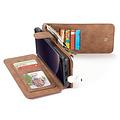CaseMe CaseMe - Samsung Galaxy S10e hoesje - Wallet Book Case met Ritssluiting - Bruin