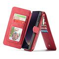 CaseMe CaseMe - Samsung Galaxy S10e hoesje - Wallet Book Case met Ritssluiting - Rood