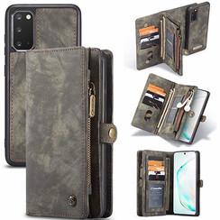 CaseMe - Samsung Galaxy S20 hoesje - 2 in 1 Wallet Book Case - Zwart