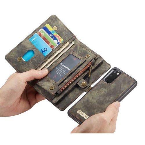 CaseMe CaseMe - Samsung Galaxy S20 hoesje - 2 in 1 Wallet Book Case - Zwart