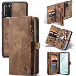 CaseMe - Samsung Galaxy S20 hoesje - 2 in 1 Wallet Book Case - Bruin