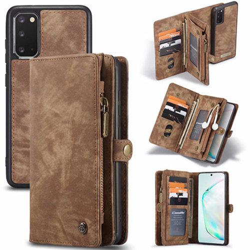 CaseMe CaseMe - Samsung Galaxy S20 hoesje - 2 in 1 Wallet Book Case - Bruin