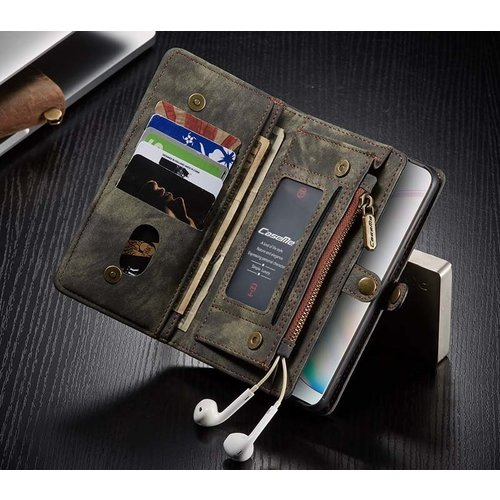 CaseMe CaseMe - Samsung Galaxy S20 Plus hoesje - 2 in 1 Wallet Book Case - Zwart
