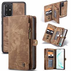 CaseMe - Samsung Galaxy S20 Plus hoesje - 2 in 1 Wallet Book Case - Bruin